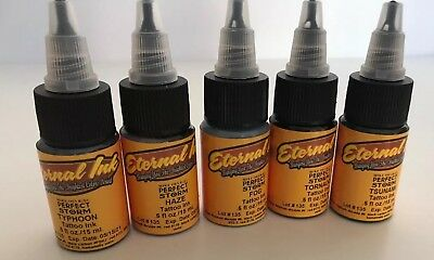 Eternal Tattoo Inks 5 Bottles 15ml Each