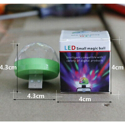 Mini USB Stage Disco Light Voice Control LED Bulb for Home KTV Club Pub