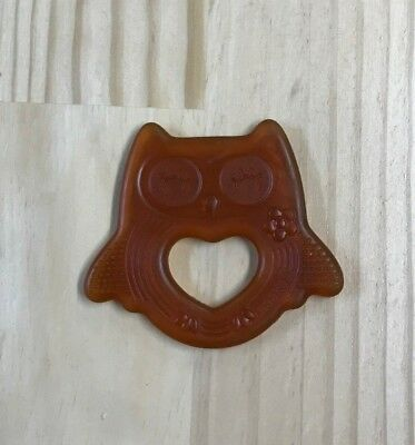 Haakaa Natural Rubber Owl Teether - Smiling