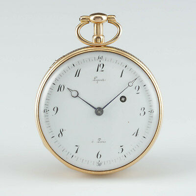 Lepaute a Paris 20k Gold ¼ Repetition Taschenuhr circa 1798-1809
