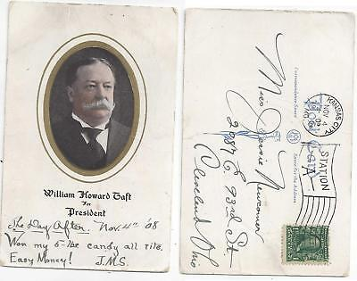 Campaign Postcard For William Howard Taft For President 1908 PC