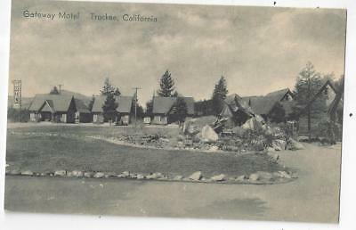 Grand VIew Of The Gateway Motel At Truckee California 1930s PC