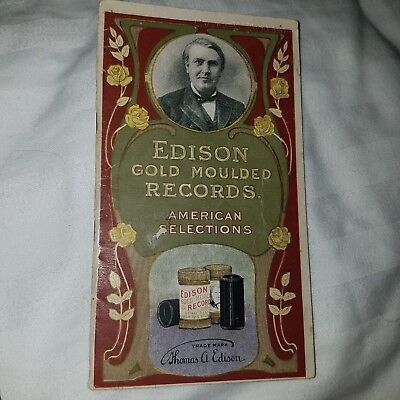 Rate 1905 Edison Cylinder Record Catalogue with American Selections