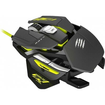 Mad Catz RAT Pro S Gaming Maus schwarz-gelb Optical Mouse Plug & Play PC NEU!