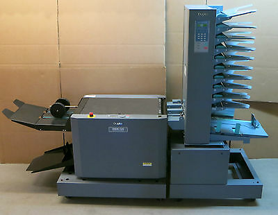 Full Booklet Maker System Duplo DBM-120 Stapling Folding + DFC-100  bookletmaker