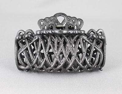 """EXTRA LARGE Black Filigree Hair Claw Clip Fancy Cut Out 5/"""" For Thick Hair"""