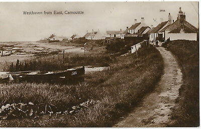 Scotland Carnoustie Westhaven from East Real Photo Vintage Postcard 18.10