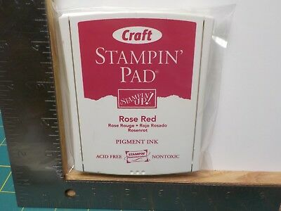 Stampin Up Rose Red Craft Pigment Ink Pad Euc A14230