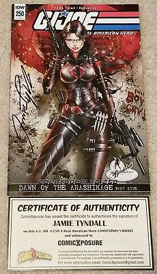G.i. Joe 250 Jamie Tyndall Signed Baroness Convention Excl Variant Coa 800 Pt