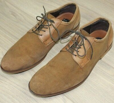 Mens LOB Man Suede Brown Leather Casual Shoes Size EU 44 UK 11