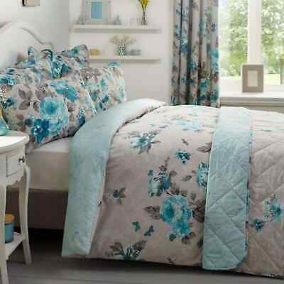 Linens and Lace Butterfly Stamp Duvet Cover Pillow Cases Unisex Set Reversible