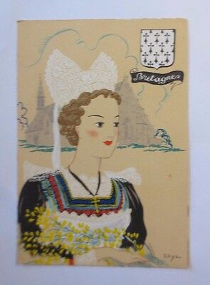 """"""" Brittany,Traditional Costumes,Headdress """" 1950, Dyl (47246)"""