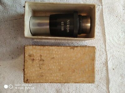 :Vintage Nikon  63188 Microscope Objective Lens with Case