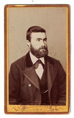 Antique 1870-1880 Cdv Photo A Fine Bearded Gentleman Schjetne Tromso Norway