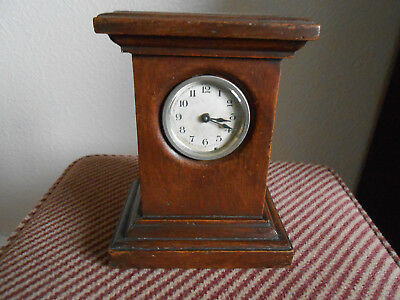 Ansonia Mantle Clock. Pat. 23rd April 1878 in Wooden Case. Good Working Order.
