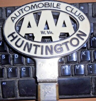 Old Plastic Auto Club/ Aaa Huntington West Virginia Licence Plate Topper