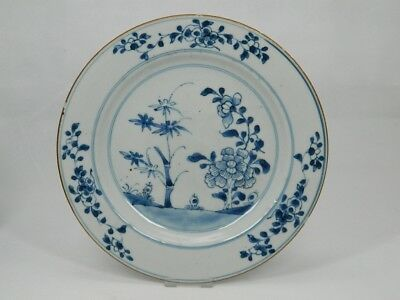 Blauweißer Teller Porzellan Chinese Porcelain Plate Blue and White China 18. Jh.