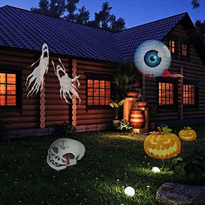 Alkbo Party Lights Decoration Landscape Projector Lights 12 Pattern Gobos Garden