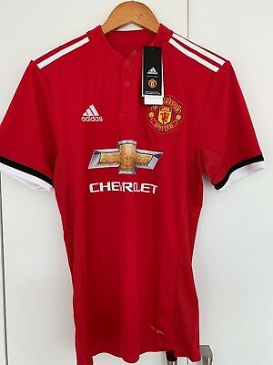manchester united home shirt 2017/18 small brand new