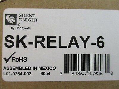 (New) Silent Knight Sk-Relay-6 - Intelligent Six Relay Control Module