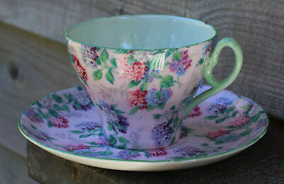 Shelley oleander cup and saucer BEAUTY!!