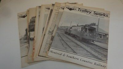 12 Trolley Sparks Central Electric Railroad Association Magazines, 1940s