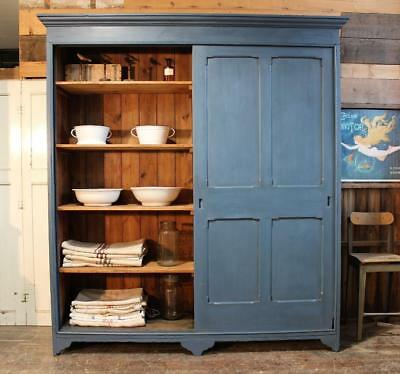 Old Painted Victorian Stable cupboard Cupboard Vintage Chippy Salvage