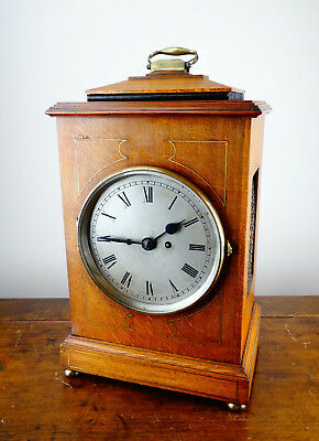 Antique Edwardian Double Twin Fusee Bracket Mantel Clock Chiming 8 Day c1910