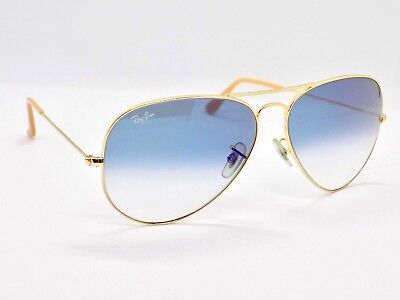 Ray Ban Aviator Classic Gradient RB3025 001/3F 58mm Lens & Case
