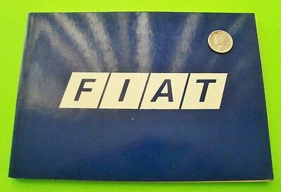 FIAT POCKET HISTORY Bruno Alfieri AUTOMOBILIA 72-pgs LOADED w/ PHOTOS In English