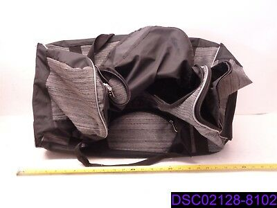 """New w Marks Protege 32"""" Expandable Rolling Duffle Bag Gray & Black"""