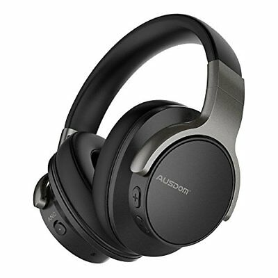 AUSDOM ANC8 Active Noise Cancelling Bluetooth Headphones, Wireless Over-Ear Head
