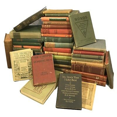 Vintage antique Books Lot of 10, Random & unsorted mixed, wholesale, crafts