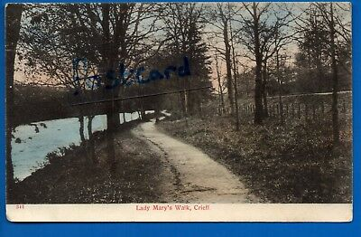 1905 Postcard Lady Marys Walk Crieff Perth Kinross Nr Ochtertyre Muthill Monzie