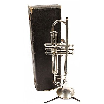 Vintage Pan American Trumpet; 1928, Silver Plating, Conn, Elkhart
