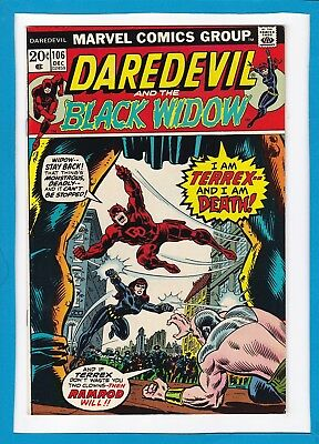 Daredevil And The Black Widow #106_December 1973_Very Fine_Bronze Age Marvel!