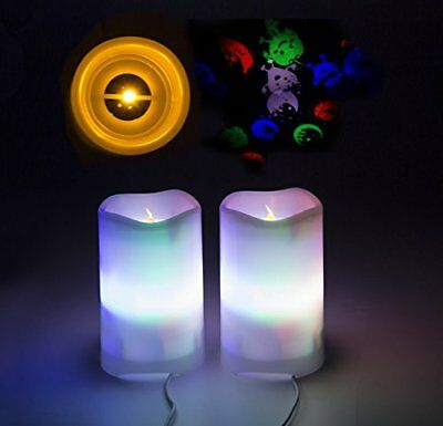 Shineart LED Candle Projection Lights - Flameless Electric Candles with Remote 2