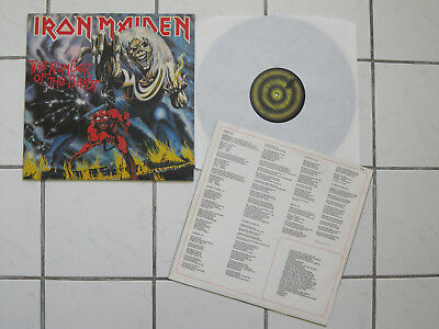 IRON MAIDEN - the number of the beast ORIG METAL LP  3.LP D 1982 near mint <<<
