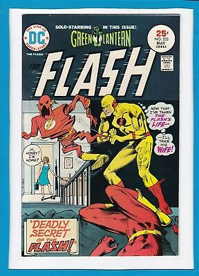 "The Flash #233_May 1975_Nm Minus_Green Lantern_""the Deadly Secret Of The Flash""!"