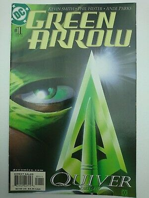 """GREEN ARROW #1, 2001, FN+ 6.5, """"Quiver"""" begins by Kevin Smith, Hester & Parks"""