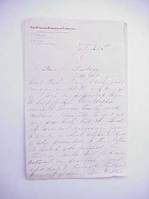 1897 Wabash Railroad Company St. Louis Freight Department Letterhead x2