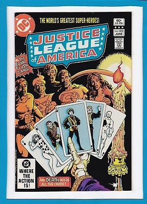 Justice League Of America #203_June 1982_Near Mint Minus_The Royal Flush Gang!