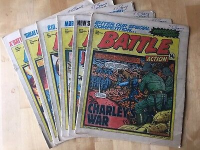 6x Battle Picture Weekly Comic, Issues 25 Oct - 29 Nov 1980