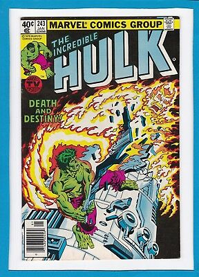 "Incredible Hulk #243_January 1980_Very Fine+_""death And Destiny""_Bronze Age!"