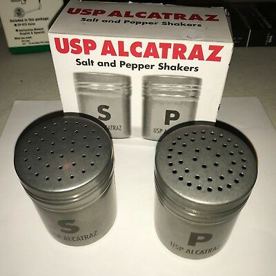 USP Alcatraz Salt and Pepper Shakers - New in Open Box