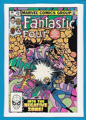 "Fantastic Four #251_Feb 1983_Nm Minus_""the Negative Zone""_Signed By John Byrne!"