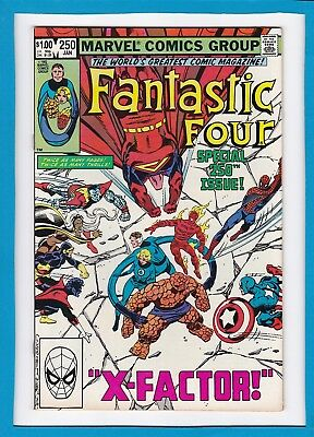 "Fantastic Four #250_Jan 1983_Vf/nm_Spider-Man_""x-Factor""_Double-Sized Issue!"