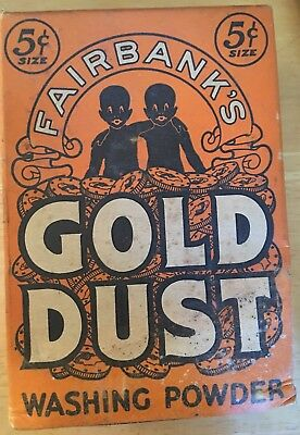 Fairbanks Gold Dust Washing Powder Boxed Sealed Black Americana Vintage