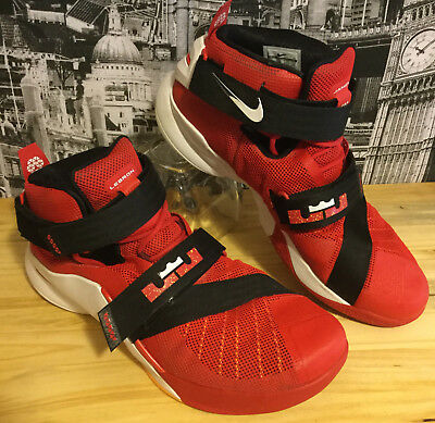 db01f5e2381 Mens NIKE Basketball Shoes 15 LEBRON JAMES SOLDIER IX Red Black White  Sneakers