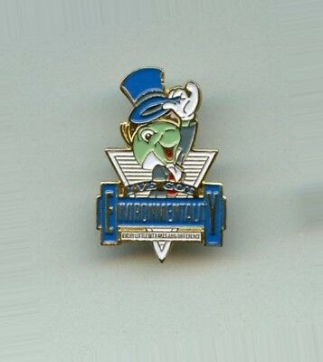 Disney World Jiminy Cricket - I've Got Environmentality Cast Award Pin RARE
